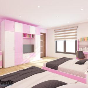 Bộ nội thất nhựa phòng ngủ Người lớn / SHplastic NTL02