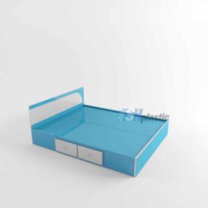 Thiết kế mẫu giường ngủ nhựa đôi Đài Loan cao cấp SHPlastic GN17
