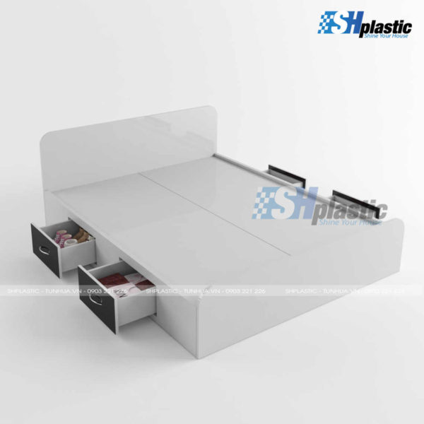 Thiết kế mẫu giường ngủ nhựa Đài Loan cao cấp SHPlastic GN13