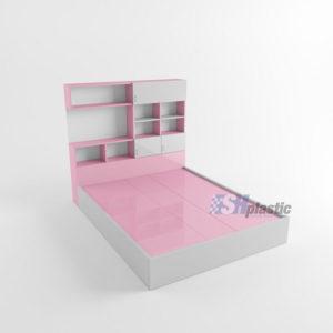 Giường ngủ nhựa kết hợp kệ trang trí SHPlastic GN16