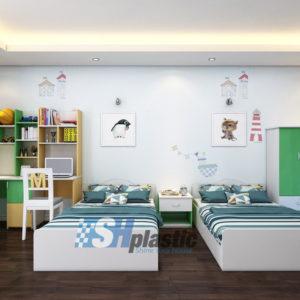 Bộ nội thất nhựa phòng ngủ Trẻ Em / SHplastic NTN02