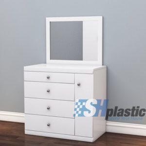 Mẫu bàn trang điểm bằng nhựa đài loan cao cấp SHplastic TD07