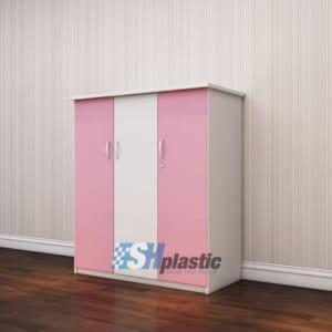Tủ nhựa trẻ em 3 cánh 2 buồng SHplastic TN03