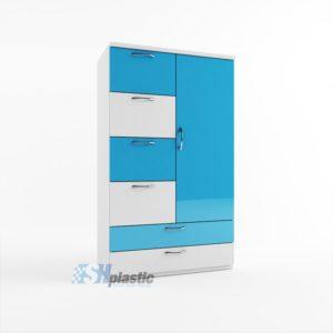 Mẫu tủ nhựa Trẻ Em 1 cánh 6 ngăn kéo / SHplastic TN16