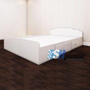 Mẫu giường ngủ nhựa đôi Người lớn cao cấp / SHplastic GN04
