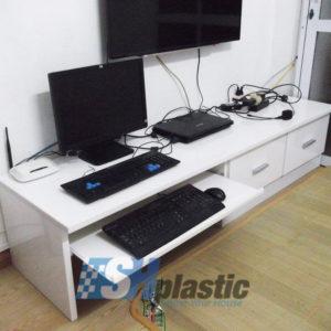 Kệ tivi, Kệ máy tính nhựa Đài Loan cao cấp / SHPlastic KTV11