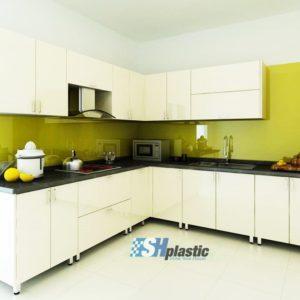 Mẫu tủ bếp nhựa đài loan cao cấp SHplatic TB01