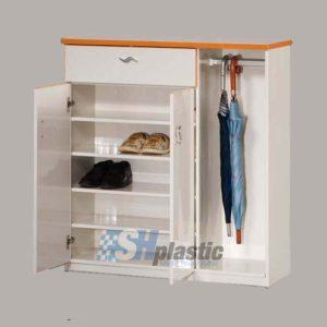 Mẫu tủ giày nhựa cao cấp 1 ngăn 3 cánh / SHplastic TG06