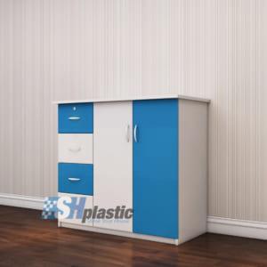 Mẫu tủ nhựa Trẻ Em 2 cánh 4 ngăn kéo / SHplastic TN25