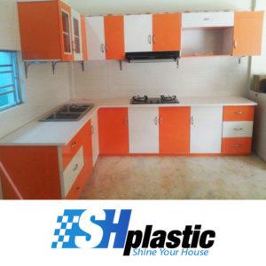 Mẫu tủ bếp nhựa Đài Loan cao cấp chữ L / SHPlastic TB05